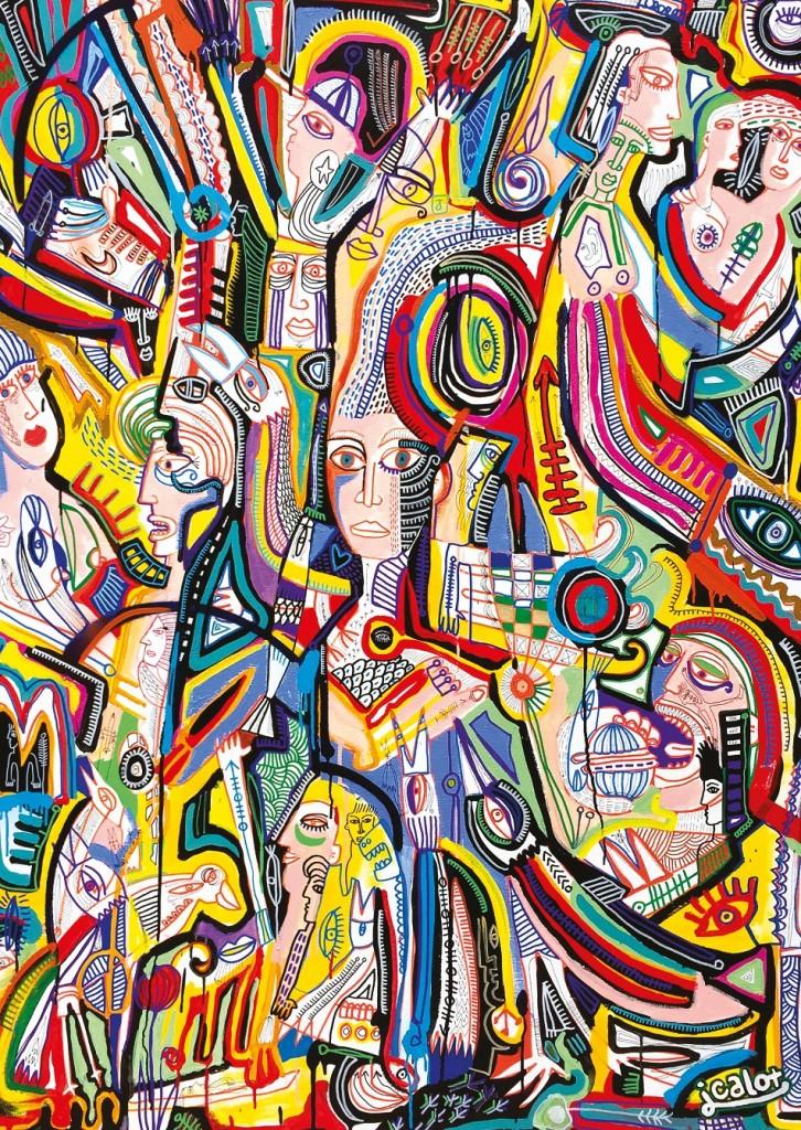 Julien Calot à la galerie Claire Corcia à Paris : des océans de visages à l'heure de pointe