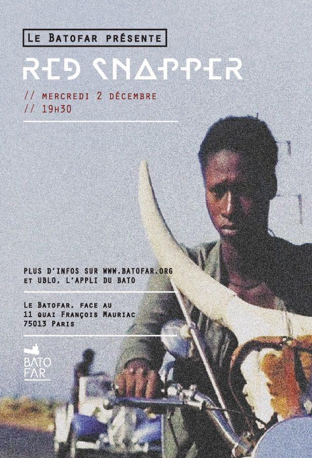 Gagnez 2×2 places pour le concert de Red Snapper au Batofar le 2 décembre