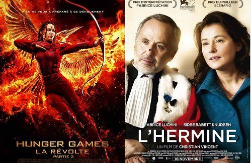 Box-office France semaine : 1,2 million d'entrées pour Hunger Games 4 et nouveau succès de Fabrice Luchini