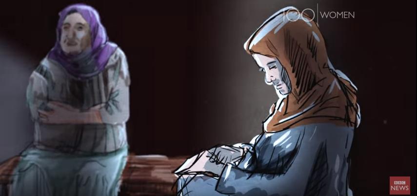 Dessin animé poignant de la BBC sur la vie des femmes à Raqqa – «They wanted freedom»