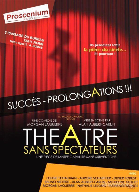Théâtre sans spectateurs au Proscenium