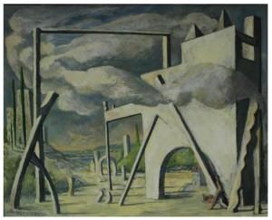 Rémy Aron, La Porte dans la nature, 2011, huile sur toile, 65 x 80 cm Courtesy of the artist