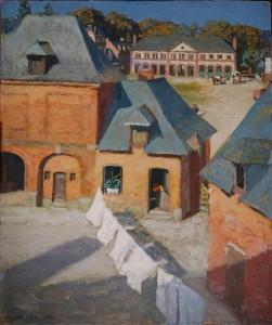 Andre? Noufflard, To?tes : Ho?tel du Cygne, 1922, huile sur carton, 55 x 46 cm, Paris, Association Andre? et Berthe Noufflard