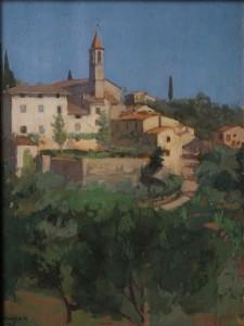 Andre? Noufflard, Mosciano, 1914, huile sur carton, 35 x 26 cm, Paris, Association Andre? et Berthe Noufflard