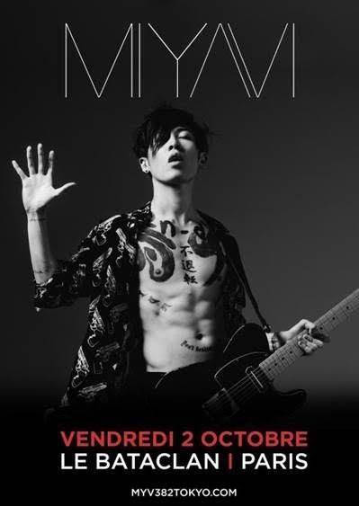 [Live Report] Concert Miyavi du 2 octobre 2015 au Bataclan