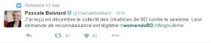 Tweet Pascale Boistard