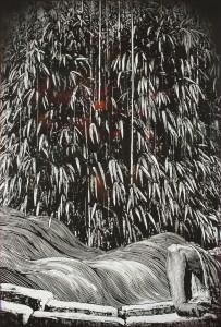 Stranded, 2014 Acrylique sur panneau de bois 175 x 122 cm