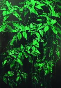 La Fore?t d'E?meraude, 2014 Acrylique sur panneau de bois 175 x 122 cm