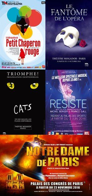 Les comédies musicales à Paris en 2016