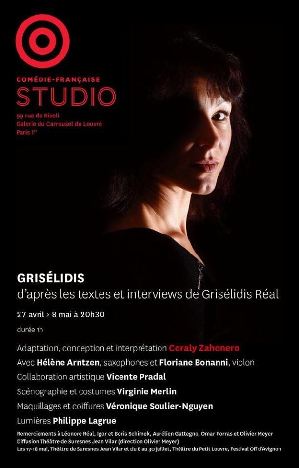 Coraly Zahonero ressuscite Grisélidis Real, la prostituée peintre écrivaine, chaque soir au Studio Théâtre