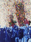 Gérard Fromanger, Jaillit, 1976. Huile sur toile, 130 x 97 cm. Courtesy Jeanne Bucher Jaeger, Paris. Photo : J.-L. Losi
