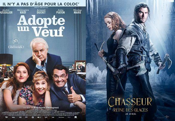 Box-office France semaine : Adopte un veuf devant Le chasseur et la reine des glaces avec 420000 entrées