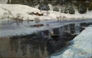 3- La Rivière Simoa l'hiver, 1883, Nasjonalgalleriet, Oslo