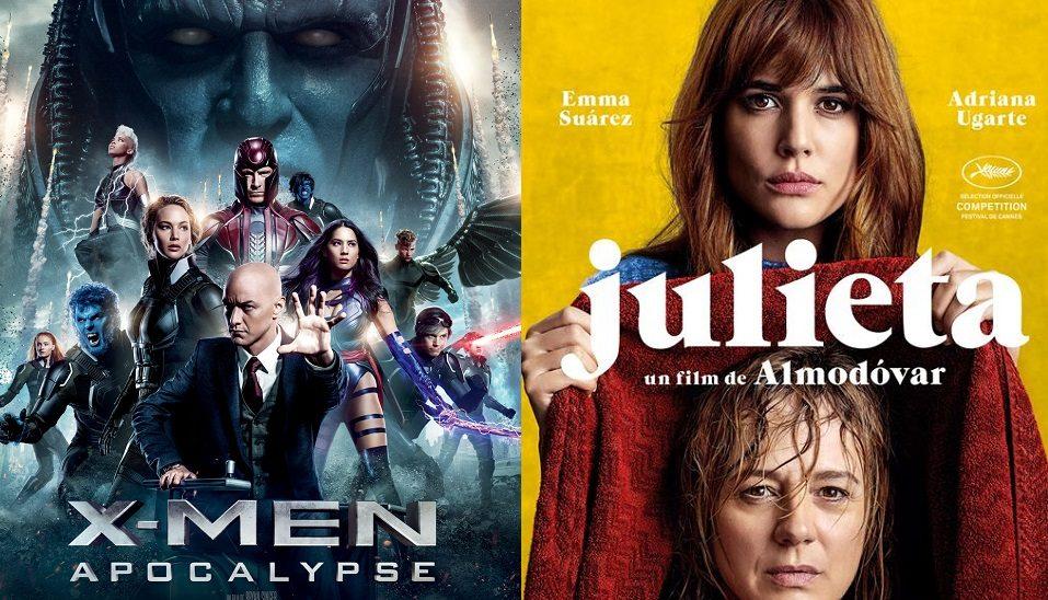 Box-office France semaine : X-Men Apocalypse distance Julieta de Pedro Almodovar avec 900000 entrées