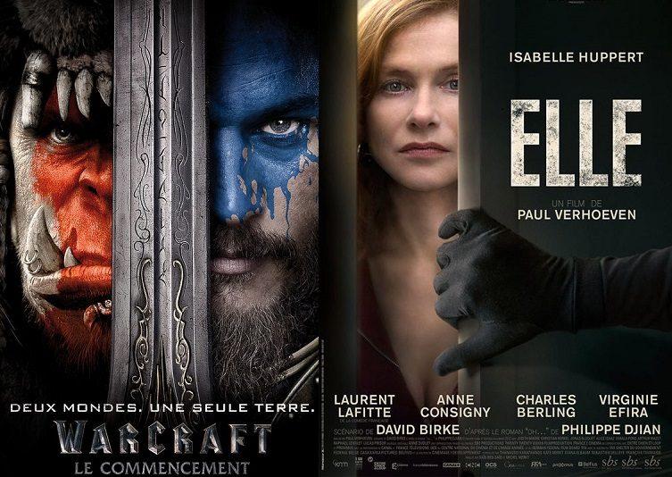 Box-office France semaine : 670000 entrées pour Warcraft, 215000 pour le duo Verhoeven / Huppert