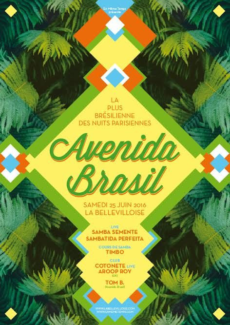 Gagnez 3×2 places pour L'Avenida Brasil le samedi 25 juin à la Bellevilloise