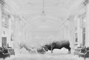Jean Bedez, De Ordine, 2015, dessin à la mine de graphite, papier 224 g/m2 , 150 x 100 cm, courtesy Galerie Suzanne Tarasieve, Paris & Galerie Albert Baronian, Bruxelles, Photo Rebecca Fanuele