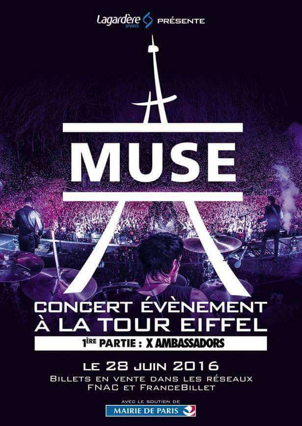 Muse en concert à la Tour Eiffel le 28 Juin