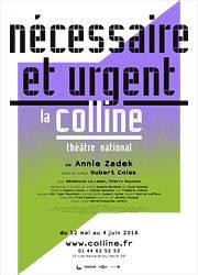 «Nécessaire et Urgent» de Hubert Colas à la Colline