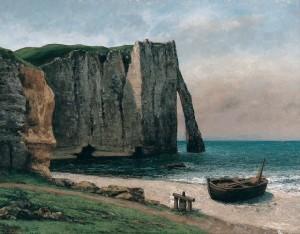 04 - Courbet - La falaise d'Etretat