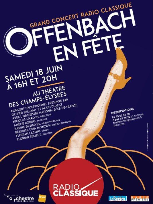 Le 18 juin à Paris, Offenbach est à la fête!