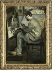 """Portrait de Frédéric Bazille (1841-1870), peignant """"le héron aux ailes déployées"""""""