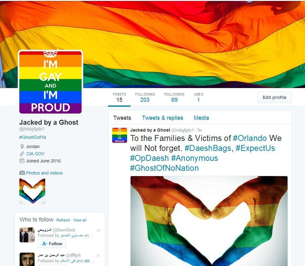 Anonymous pirate des comptes Twitter de Daesh avec des images gays