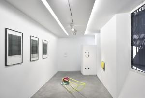Vue d'exposition Peeping space, galerie Eric Mouchet, 2016