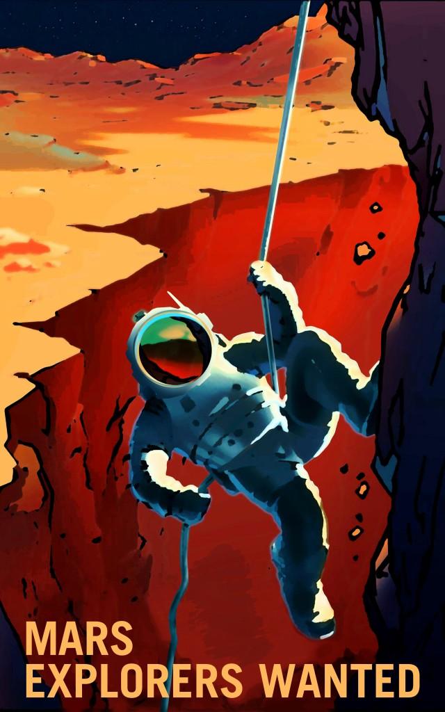 La NASA : des affiches qui donnent envie d'aller sur Mars