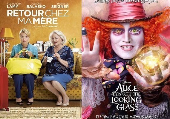 Box-office France semaine : Retour Chez ma Mère éclipse Alice de l'autre côté du miroir avec 640000 entrées