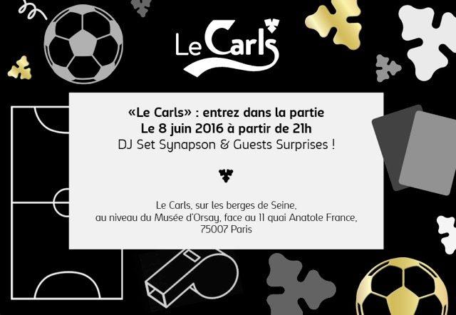 Gagnez 2×2 places pour la soirée de lancement de l'Euro avec Synapson au Carls le 8 juin