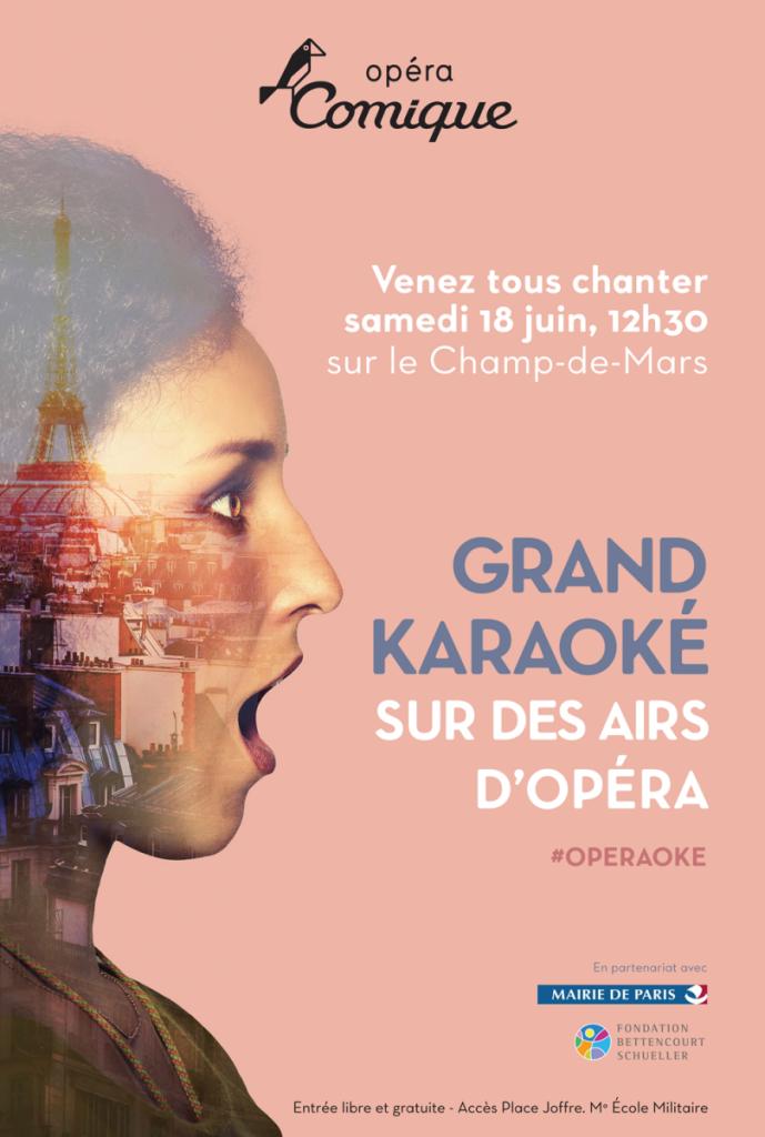 L'Opéraoké : le 18 juin, l'Opéra Comique fait chanter Paris… et vous?