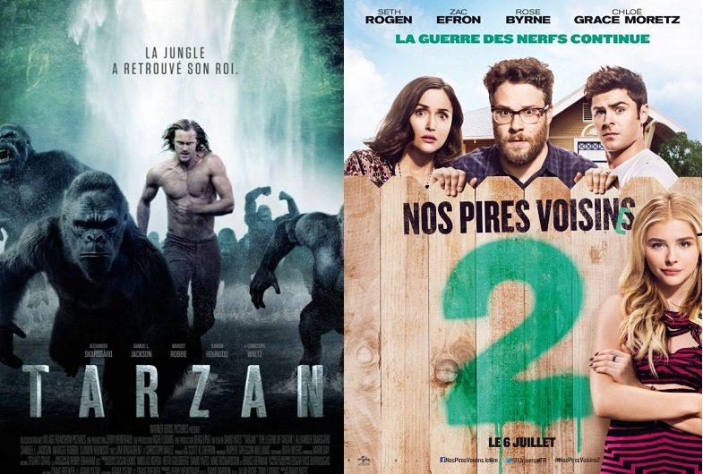 Box-office France semaine : Tarzan cumule 490000 entrées et devance Nos pires voisins 2