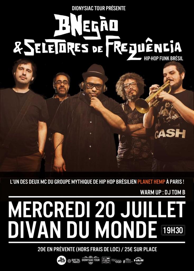 Gagnez 4×2 places pour le concert de BNegão & Seletores de Frequência jusqu'au 19/07