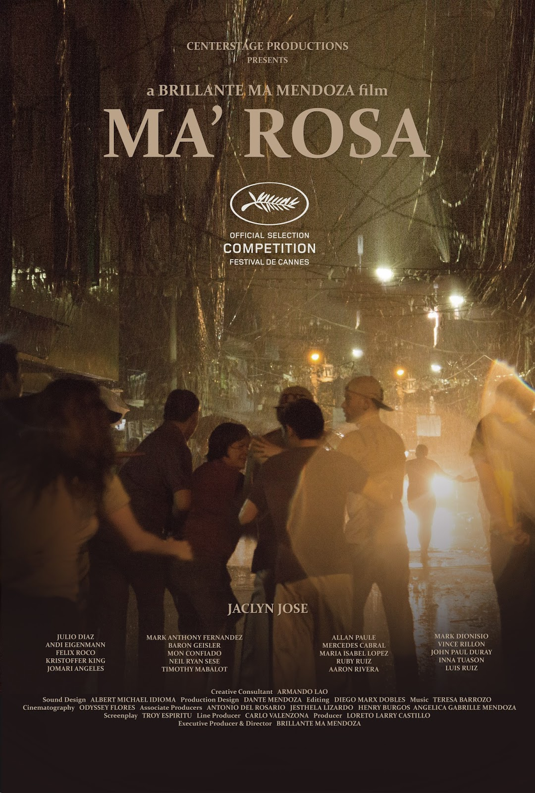 Ma 39 rosa de brillante mendoza en avant premi re au for Exterieur nuit film