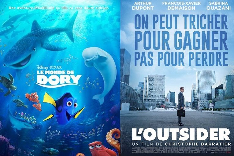 Box-office France semaine : 1 million d'entrées pour le Monde de Dory de Pixar