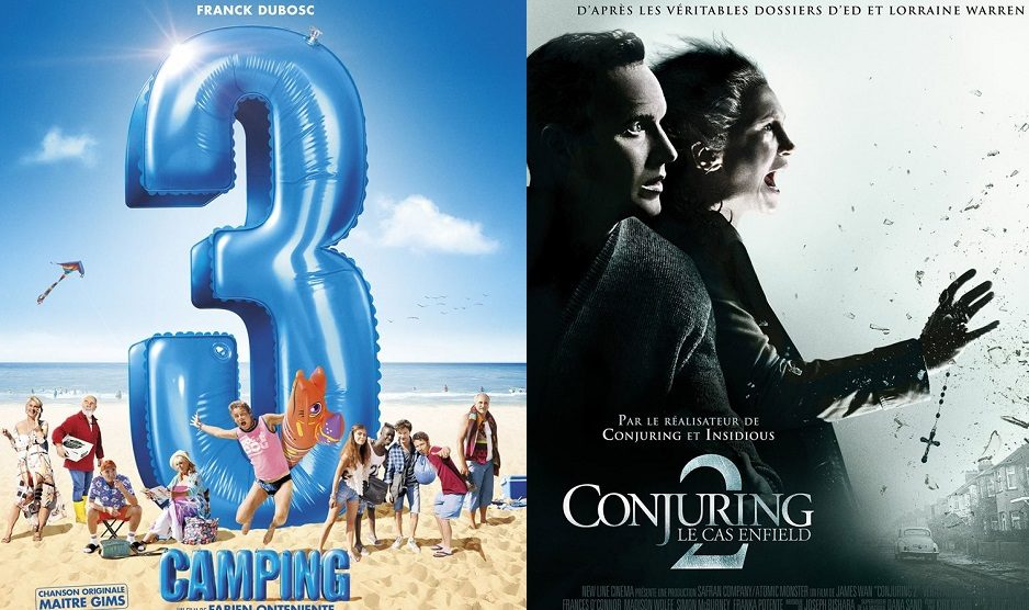 Box-office France semaine : Camping 3 et Conjuring 2 font le plein de spectateurs