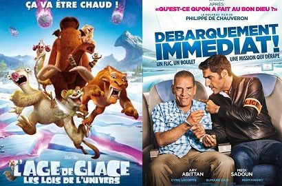 Box-office France semaine : 1.2M d'entrées pour L'âge de glace 5 qui surclasse Débarquement Immédiat