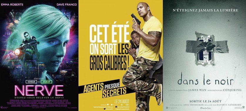 Box-office France semaine : bons débuts pour Dans le noir, Nerve et Agents presque secrets