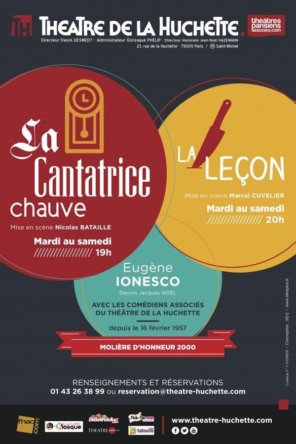«La Cantatrice Chauve» et «La Leçon» de Ionesco au Théâtre de La Huchette