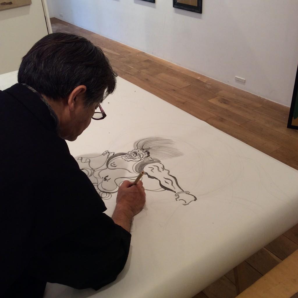 [interview] Tsutomu HIRAO grand maître de la peinture Rimpa Kawaii