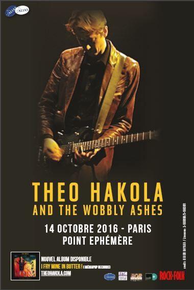 Gagnez 1×2 pour le concert de Theo Hakola And The Wobbly Ashes le 14 octobre au Point Ephémère