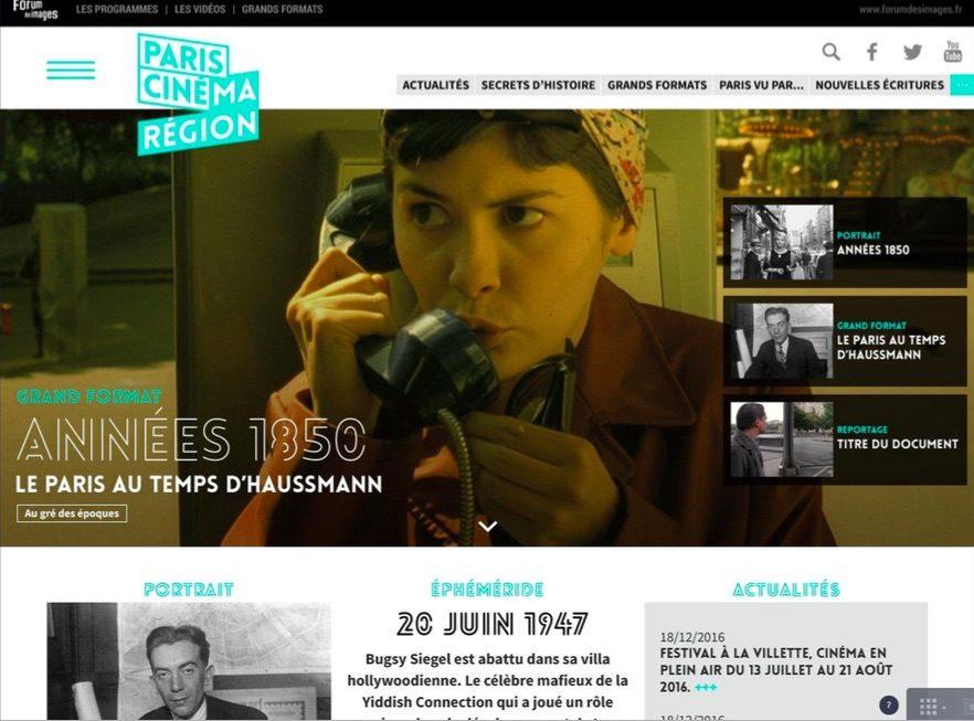 Le Forum des Images lance le site Paris Cinéma Région