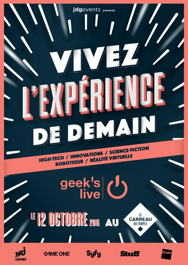 Gagnez 10×1 invitation pour le festival Geek's Live 2016 qui aura lieu le 12 octobre 2016