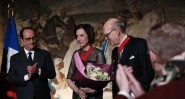 Marlène et Spencer Hays en compagnie de François Hollande
