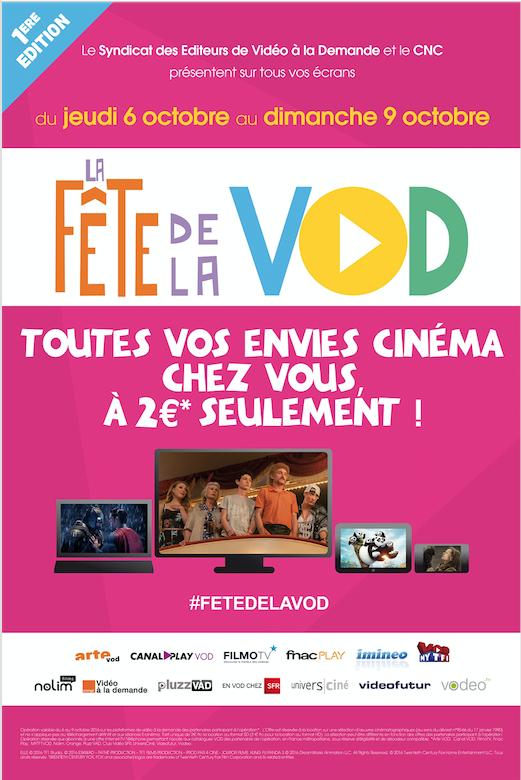 Première édition de la fête de la VOD : 2€ le film en streaming légal du 6 au 9 octobre 2016