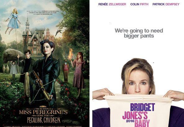 Miss Peregrine de Tim Burton et Bridget Jones Baby dominent le box-office français