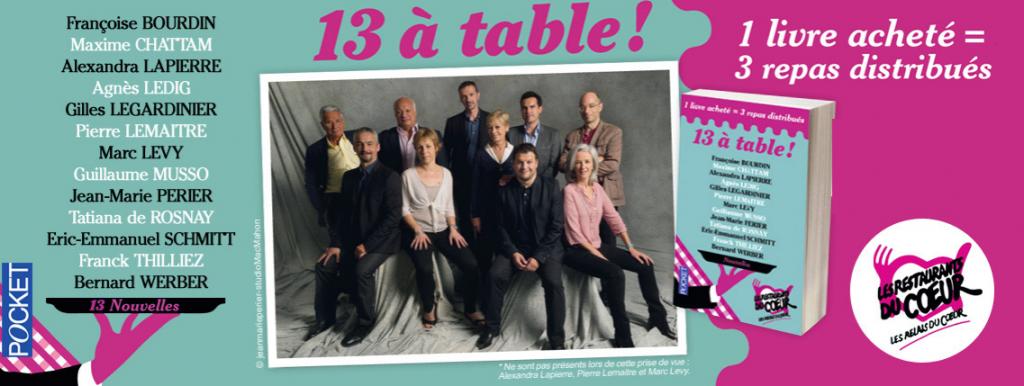 «13 à Table !», le recueil solidaire fait son retour