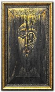 A. Tikhomirov, « Celui qui m'a vu a vu le Père », 69?36, détrempe sur bois, cire. 2016. © A. Tikhomirov