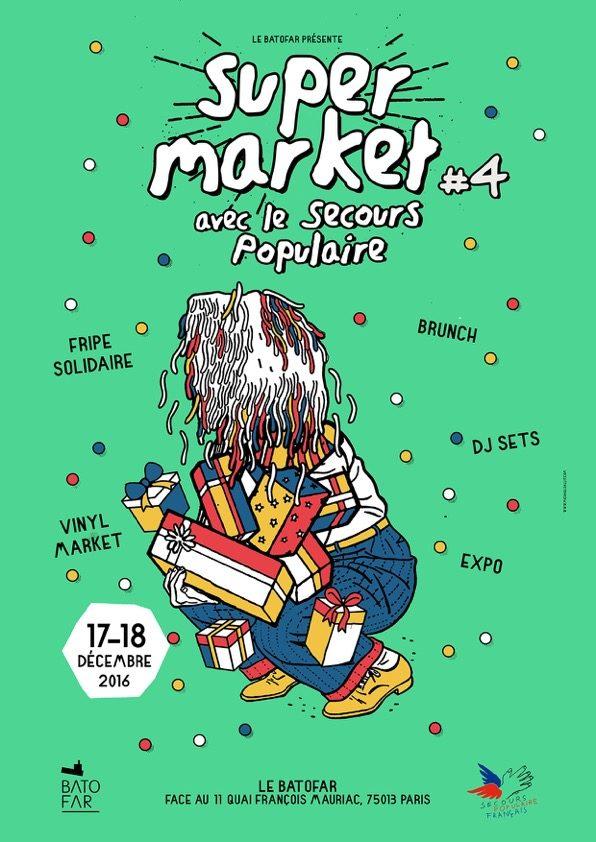 Gagnez 1×2 Brunch au Wagon du Batofar le dimanche 18 décembre pour le Super Market solidaire